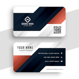 Modern professional business card template in geometric shape style