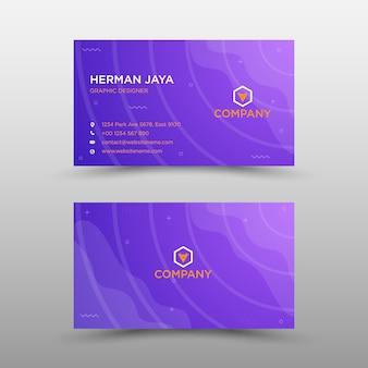 Modern professional business card template