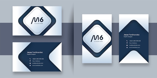 현대 전문 비즈니스 카드 템플릿