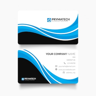 Modern professional business card with abstract shapes