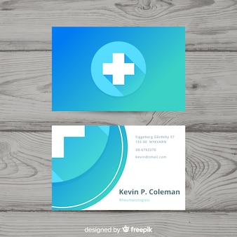 Modern professional business card with medical concept