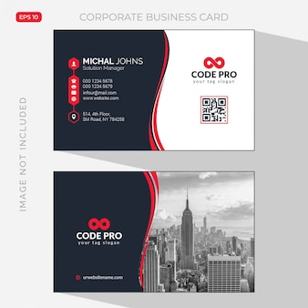 Modern professional business card with photo of city