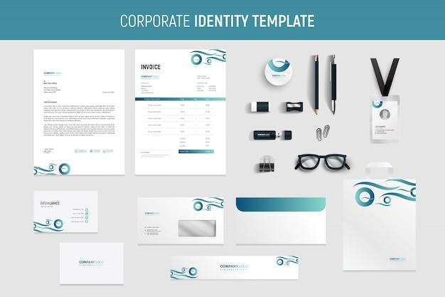 Modern professional business stationery set