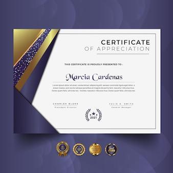 Modern professional certificate template