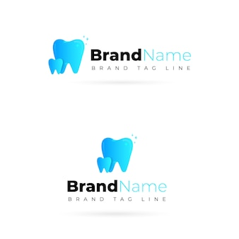 Modern professional dental logo