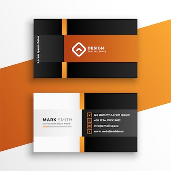 Modern professional geometric business card template