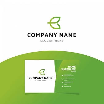 Modern professional letter b logo  business card template