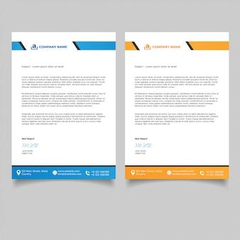 Modern professional letterhead templates