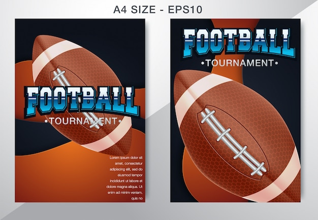 Modern professional poster american football and rugby game