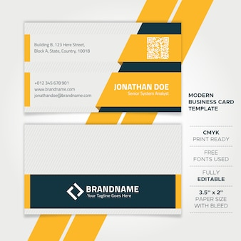 Modern professional tech business card template