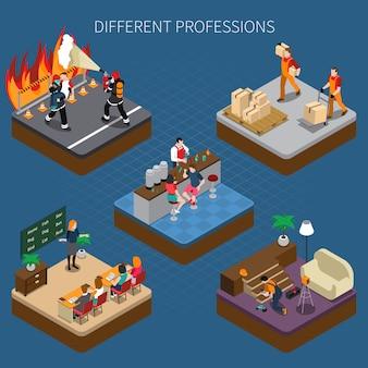 Modern professions isometric