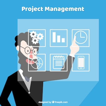 Modern project management concept in flat style