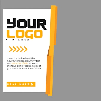 Modern promotion square web banner for social media
