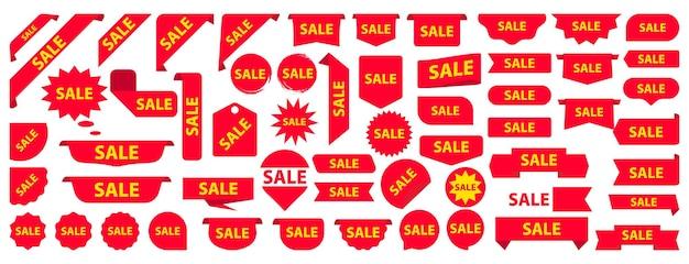 Modern promotional red sale label