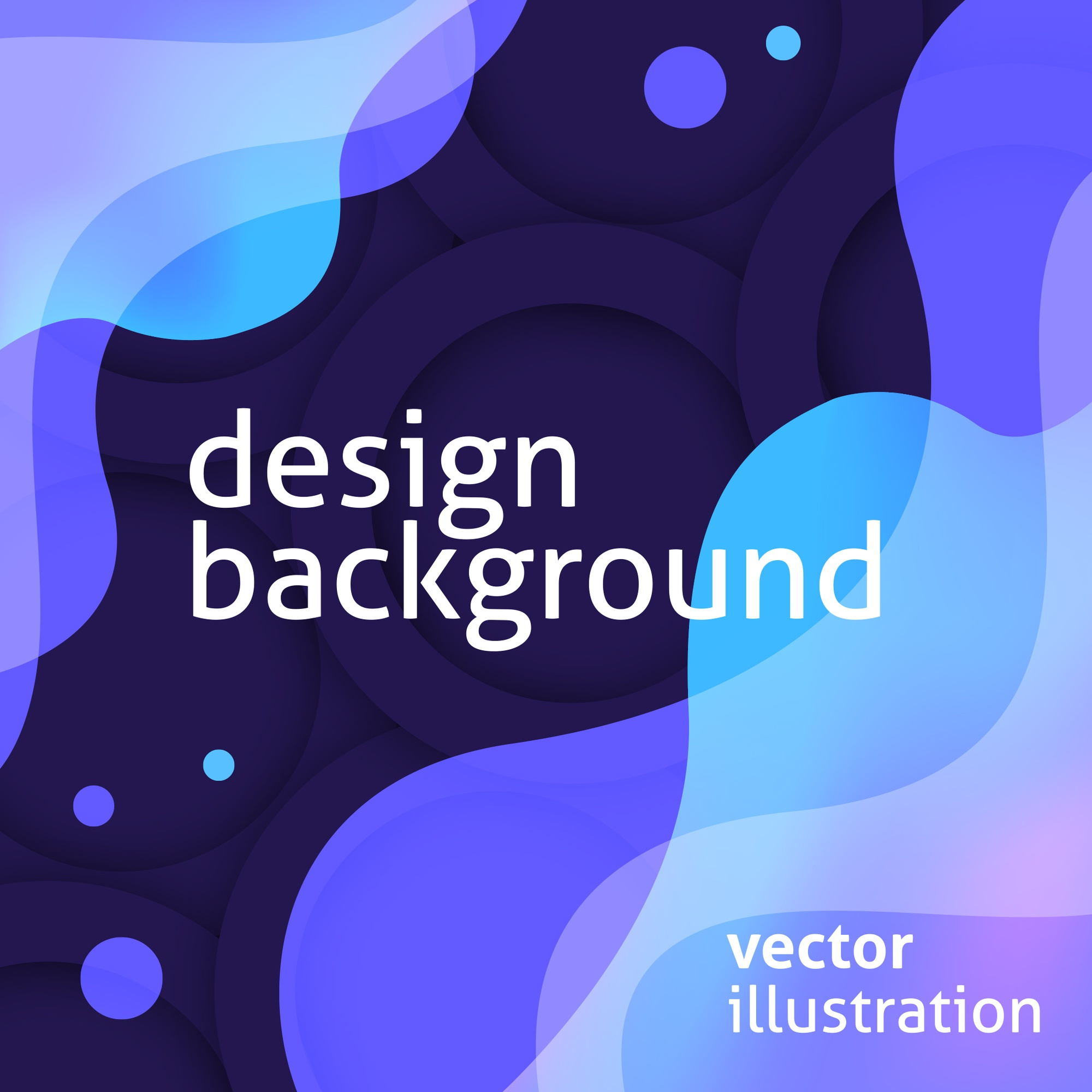 Modern purple background with blue liquid shapes