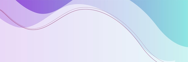 Modern purple and blue abstract banner background