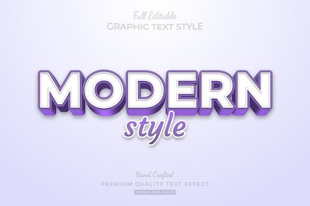 현대 보라색 스타일 편집 가능한 프리미엄 텍스트 효과 글꼴 스타일
