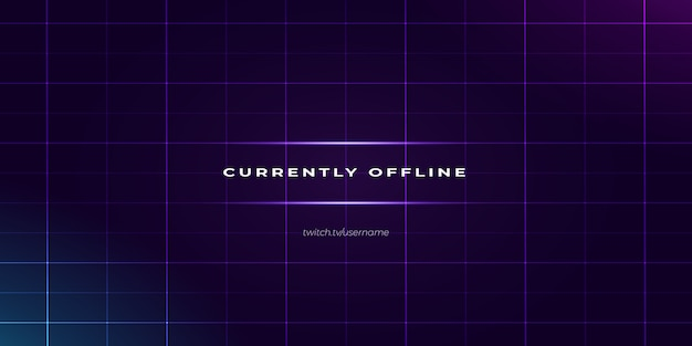 Modern purple twitch offline background