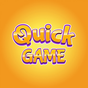 Modern quick game text effect in 3d style