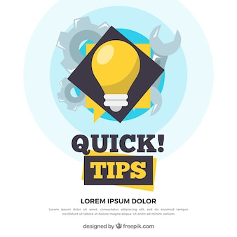 Modern quick tips composition with flat design