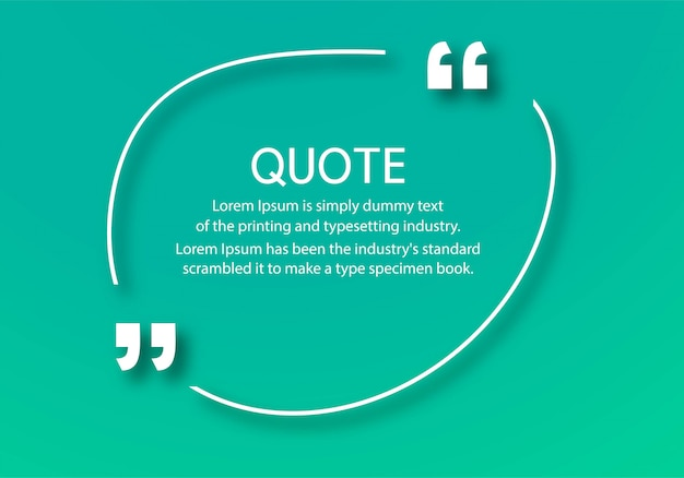 Modern quotes communication template