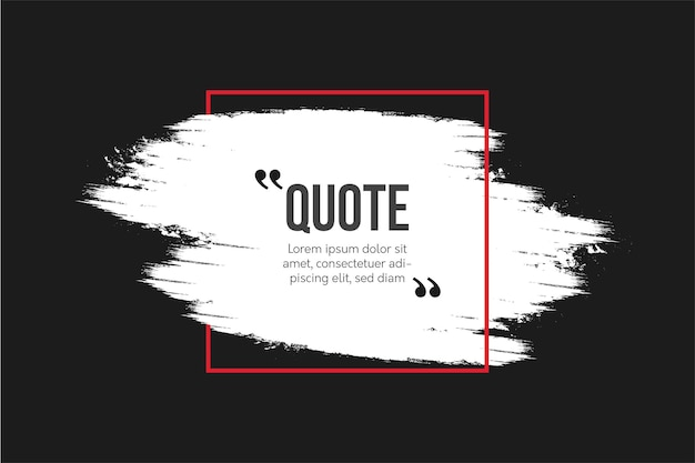 Modern quotes communication with abstract brush background