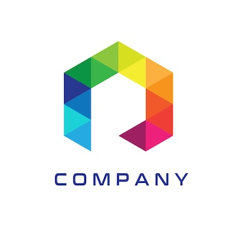 Modern r logo design