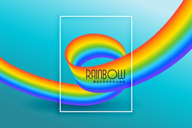 Modern rainbow wave abstract background