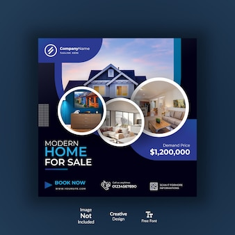 Modern real estate banner template