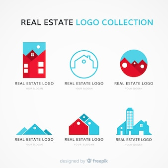 Modern real estate logo collectio