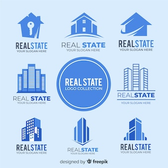 Modern real estate logo collection