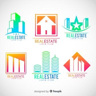 Modern real estate logo collection
