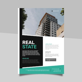 Modern real estate poster with photo