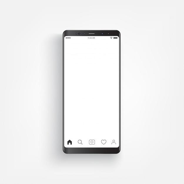 Modern realistic black smartphone.