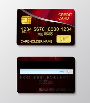 Modern realistic credit card money payment symbol.