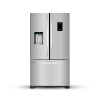 Modern realistic frige on white background