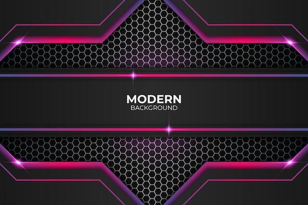 モダンでリアルなグローパープルとピンクの背景