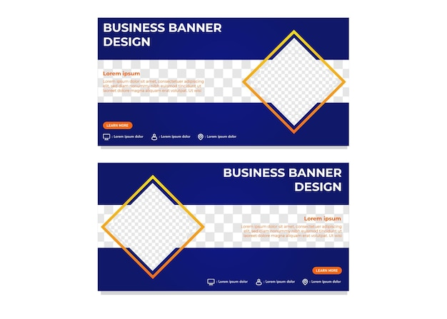 Modern rectangle gradient business banner template