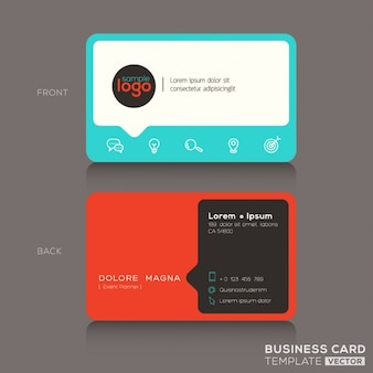 Modern red and blue business card