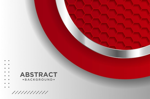 3dオーバーラップレイヤー効果を持つモダンな赤の背景。グラフィックデザイン要素。