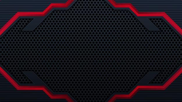 3dオーバーラップレイヤー効果を持つモダンな赤黒の背景。グラフィックデザイン要素。
