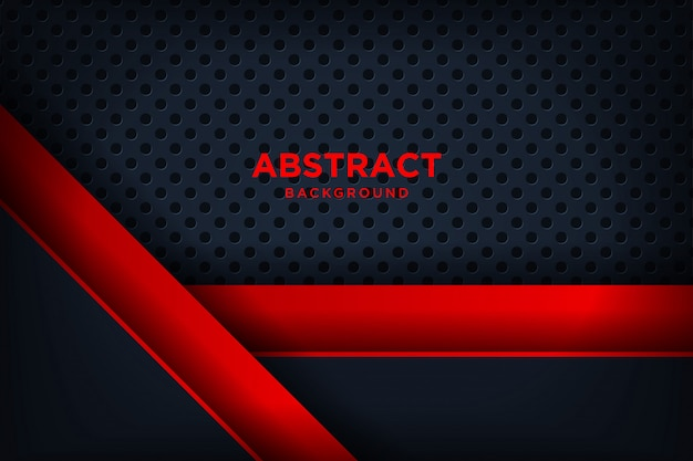 Modern red black background with 3d overlap layers effect.