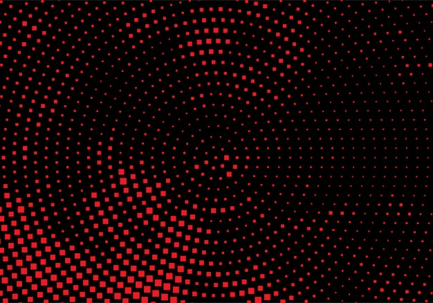 Modern red and black circular dotted background