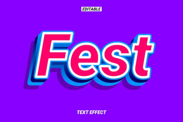 Modern red and blue text effect