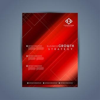 Colore rosso modello di brochure busness elegante
