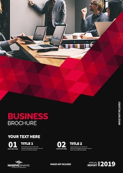 Modern red brochure template