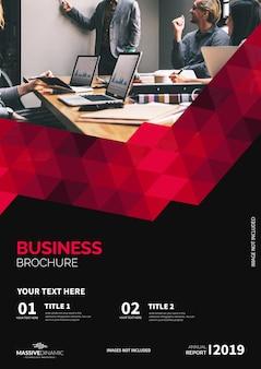 Modern red brochure template