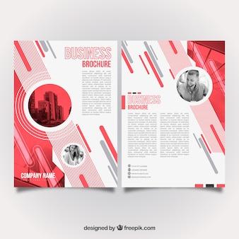Modern red business brochure design