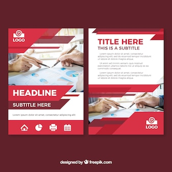Modern red business brochure template