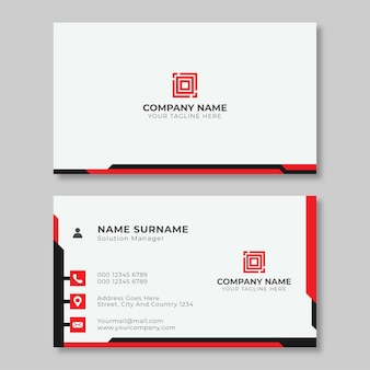 현대 빨간색 명함 디자인 서식 파일